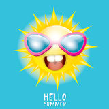 Hello Summer. vector summer smiling sun Stock Images