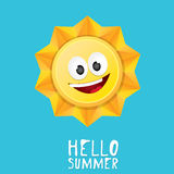 Hello Summer. vector summer smiling sun Stock Photography