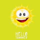 Hello Summer. vector summer smiling sun Stock Photos