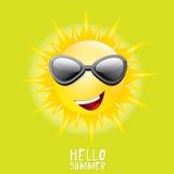 Hello Summer. vector summer smiling sun Royalty Free Stock Photos