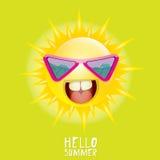 Hello Summer. vector summer smiling sun Royalty Free Stock Photography