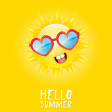 Hello Summer. vector summer smiling sun Royalty Free Stock Images