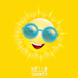 Hello Summer. vector summer smiling sun Royalty Free Stock Photography