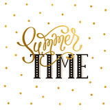 Hello summer wording Royalty Free Stock Images