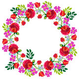 Hello summer. Wreath composition. Royalty Free Stock Images