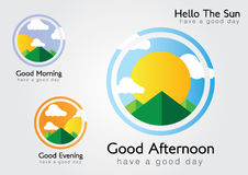 Hello the sun. We have a good day. Morning,Afternoon,Evening Royalty Free Stock Photo