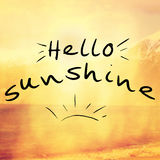 Hello sunshine quote background Stock Images