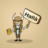 Hello from Sweden people design Royalty Free Stock Images