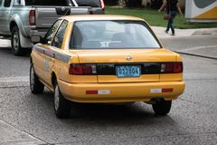 Taxi in Panama City royalty free stock photography