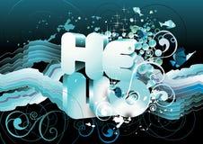 Hello text  illustration Stock Photo