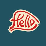 Hello text lettering red characters Stock Photos