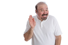 Hello There From A Big Guy Stock Photo