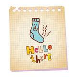 Hello there. Notepad paper message Royalty Free Stock Images