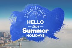 Hello there summer holidays  Royalty Free Stock Photo