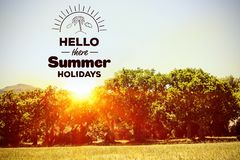 Hello there summer holidays Stock Photos