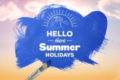 Hello there summer holidays Royalty Free Stock Photography
