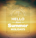 Hello there summer holidays vector Royalty Free Stock Photo