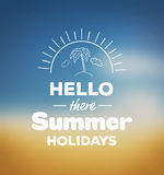 Hello there summer holidays vector Royalty Free Stock Image