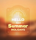 Hello there summer holidays vector Royalty Free Stock Photos