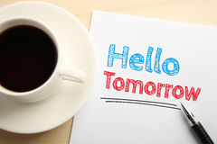 Hello Tomorrow Stock Photos