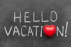 Hello vacation Stock Photo