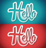 Hello vector icon - emblem Stock Images