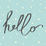 Hello. Vector illustration. Seamless abstract background Royalty Free Stock Images