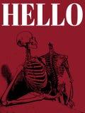 hello Vectorhand getrokken illustratie van twee menselijke skeletten royalty-vrije illustratie