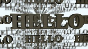 Hello,visual greetings high resolution Stock Photography