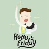 Hello-vrijdag vector illustratie