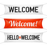 Hello and Welcome banners Stock Images