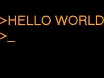 Hello wereld Stock Afbeelding