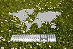 Hello Wereld van tuin Royalty-vrije Stock Foto
