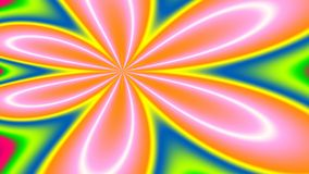Hello!, widescreen. Widescreen bright and loud fractal announcing its arrival Royalty Free Stock Image
