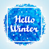 Hello winter abstract background design with Stock Images