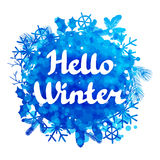 Hello winter abstract background design with Stock Photography