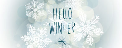 Hello winter banner Royalty Free Stock Image