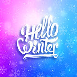 Hello winter greeting card. Vector background Royalty Free Stock Photos