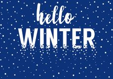 Hello winter, vector background Stock Photos