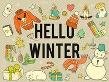 Hello winter. Stock Photos