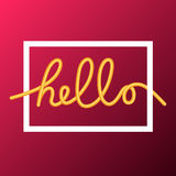 Hello word, calligraphy design, illustration Stock Images
