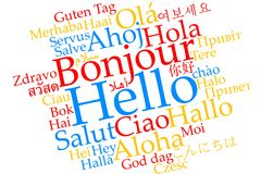 `Hello` word cloud Royalty Free Stock Photo