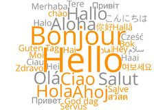 `Hello` word cloud Royalty Free Stock Photos