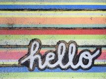 Hello stock image