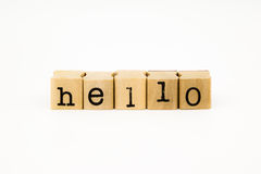 Hello wording isolate on white background Stock Image