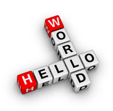 Hello world Stock Images