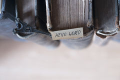 Hello world concept Stock Images
