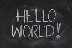 Hello, World! - first computer program Stock Images