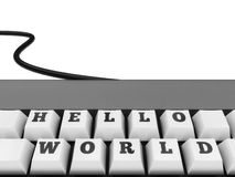 Hello World  Keyboard Stock Images