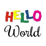 Hello World text design illustration Stock Photos